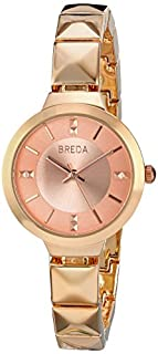 Breda Women's 2398A Analog Display Quartz Rose Gold Watch