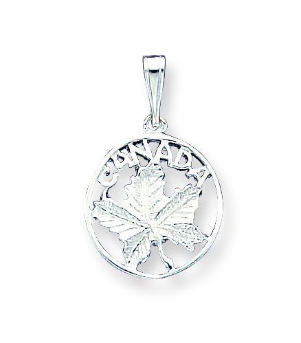 Sterling Silver Canada Charm with 20 inch Sterling Silver Chain
