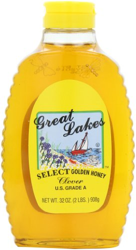 Great Lakes Select Honey, Clover, 32-Ounce Bottles (Pack of 3)