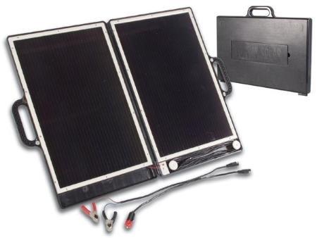 Portable Briefcase Style Solar Panel Array