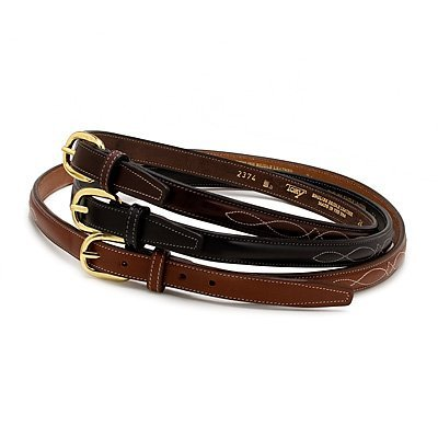 Tory Leather Fancy Stitched Belt 28 Oakbark