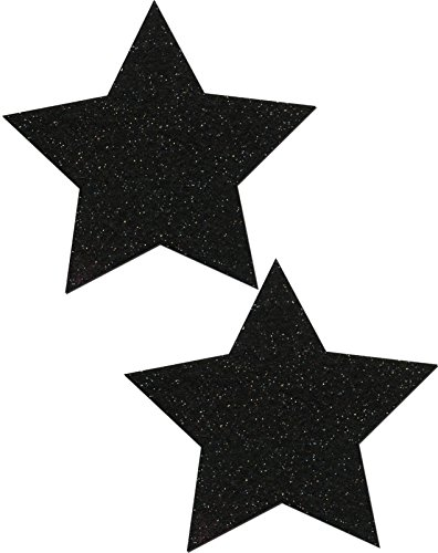 Black Sparkle Star Nipple Pasties By Pastease O/S