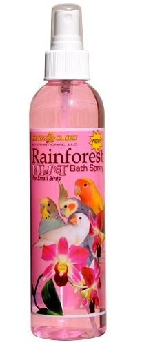 KINGS CAGES Rainforest Mist Bath Spray for SMALL BIRD parrot health cage toy toys cockatiel
