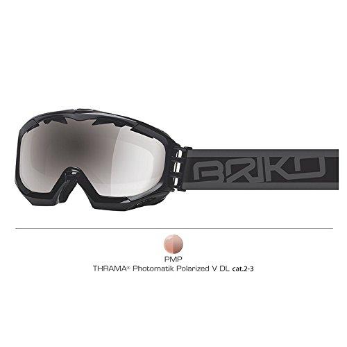 BRIKO Maschera sci discesa snowboard unisex KOMBAT EVO nero 100387 - lente PMP