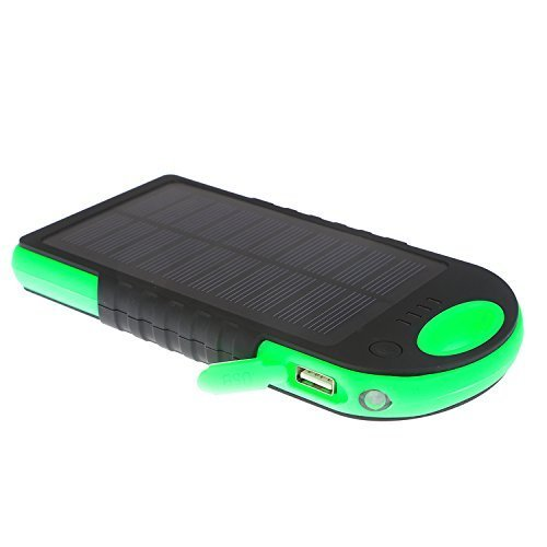 JJF Bird TM Solar Panel Charger 12000mah Rain-resistant Waterproof Shockproof Portable Dual USB Port Portable Charger Backup External Battery Power Pack for Iphone 6 4 4s 5 5sipod, Ipad Ipad Mini Retina(apple Adapters Not Included), Samsung Galaxy Note 2, Note 3, S2 S3, S4, S5, Blackberry Z30, Z10, Q10, Q5, Asus Nexus 4, 5, 7, 10, HTC One V, X, M8, M7, Mini, Max, Motorola Moto G, X, E, Droid, Lg G2, G3, Sony Xperia, Nokia Lumia, Icon, 521, 520, 920, 1020, 1520 Most Android/windows Smart Cell Phones, Gps, Tablets, and Other Usb-charged Devices, Etc. (Black-green)