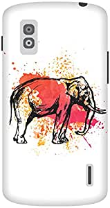 The Racoon Grip The Painted Pachyderm hard plastic printed back case / cover for LG Nexus 4