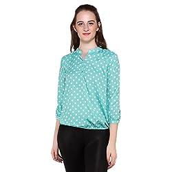 Mallory Winston Light Green polka Dots Women's Top