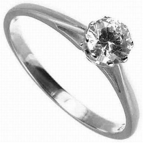 9ct White Gold Diamond Engagement Ring With Round Brilliant Diamond Solitaire, 1/2 Carat Diamond Weight