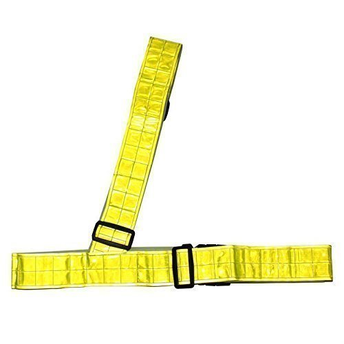 Dunlop Unisex Hi Vis Reflective Sash Band Strap Bike Bicycle Cycling Running by Dunlop