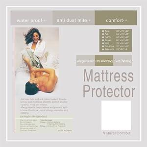 Natural Comfort Waterproof Mattress Pad Super Absorbency 15-Inch California king Deep Pocket
