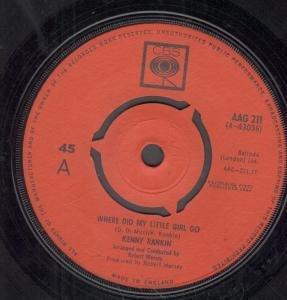 "WHERE DID MY LITTLE GIRL GO 7"" (45) UK CBS 1964 B/W U.S. MAIL (AAG211)"