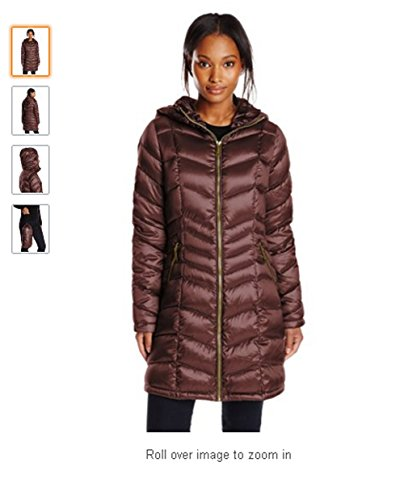 Calvin Klein Petite Quilted Down Packable Coat, Chianti Petities/X-Small
