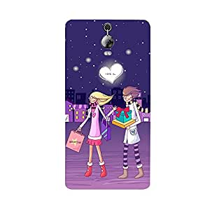 Skintice Designer Back Cover with direct 3D sublimation printing for Lenovo VIBE P1