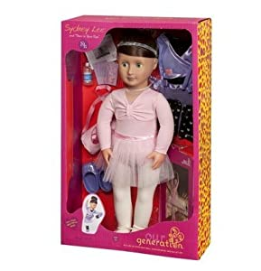 Amazon.com: Our Generation Deluxe Sydney Lee 18 Doll with Book and
