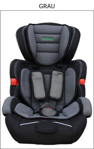 Autokindersitz-Kindersitz-Gruppe-IIIII-9-36kg-ab-9-Monate-11-Jahre-Grau
