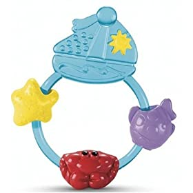 Ocean Wonders Boat Teething Rattle