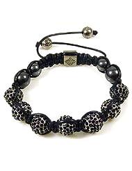 Jet Black 7 Crystal Ball Shamballa Style Bracelet BUY ONE GET ONE FREE