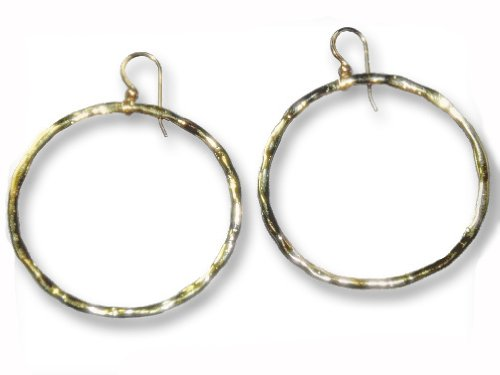 Yellow Gold Vermeil Large Shiny Hoop Earrings