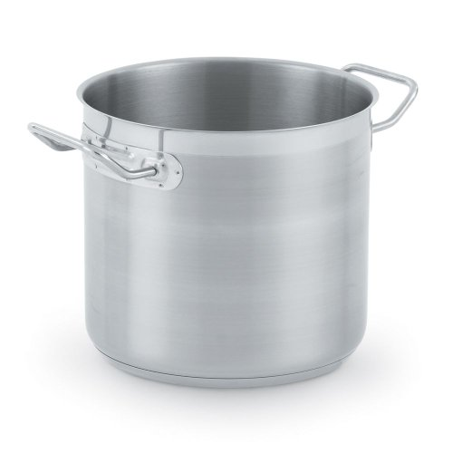 Vollrath 3501 Optio Stainless Steel Stock Pots With Domed Cover, 8-Quart