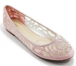 Walstar Women Flat Slip on Shoes (6 B(M) US, Pink)