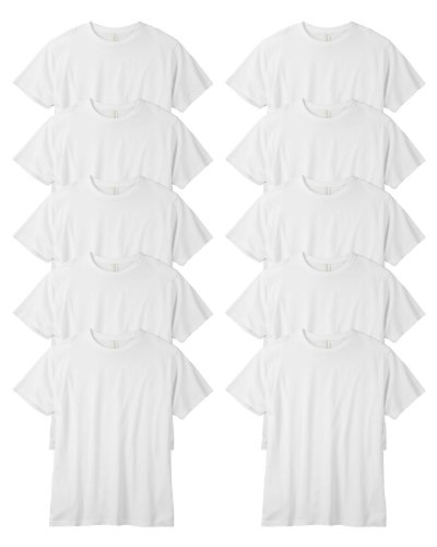 Econscious Organic Classic Short-Sleeve T-Shirt, White, X-Large. ( Pack10 ) front-702443
