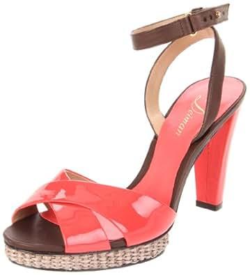 Delman Women's Dani Platform Sandal,Coral Patent,8.5 M US