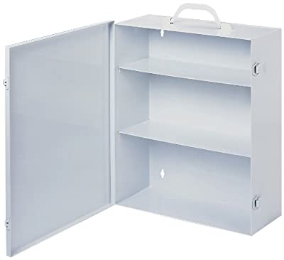 "Durham 534-43 White Cold Rolled Steel 9FX Industrial Empty First Aid Cabinet, 15"" Width x 16-5/32"" Height x 5-9/16"" Depth, 3 Shelves from The Durham Manufacturing Company"