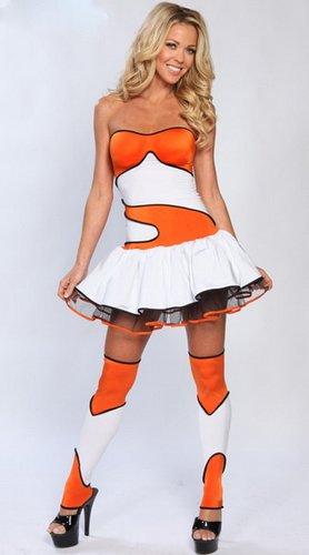 Ladies Finding Nemo Clown fish Fancy Dress