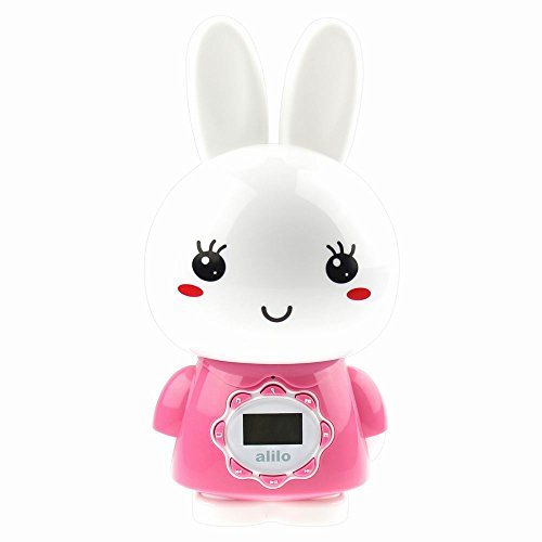 Alilo G7 Big Bunny digital player for kids with LCD screen and remote control, Pink