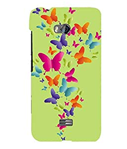 printtech Butterfly Back Case Cover for Micromax Bolt Q336