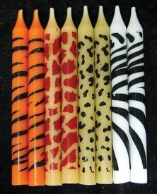 Oasis Supply Animal Print Birthday Candles, 2.25-Inch - 1