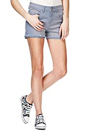 Cotton Rich Turn Up Hem Shorts [T74-6000A-S]