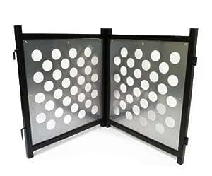 Polka Dog Gate - 2PC - Freestanding Set - Silver