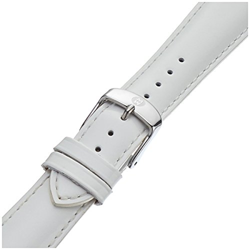 MICHELE MS20AB050100 20mm Patent-Leather White Watch Strap