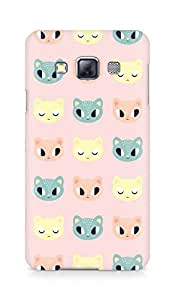 Amez designer printed 3d premium high quality back case cover for Samsung Galaxy A3 (cute kitty)