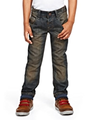 Cotton Rich Adjustable Waist Tinted Denim Jeans
