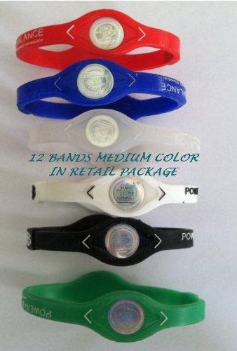 1 Dozen-power Balance-ion Titanium Baseball/sports Power Bands Medium Size -Closeout Price