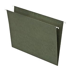 Pendaflex Essentials Hanging Folders, Letter Size, No Tabs, Standard Green, 25 per Box (81600)