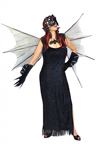 Womens Gothic Bat Girl Batwoman Deluxe Plus Size Supersze Halloween Kit L to 9x