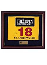 Jack Nicklaus Autographed 2000 British Open Pin Flag
