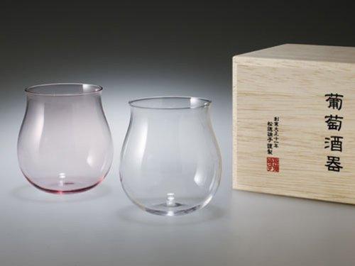 うすはりグラス 葡萄酒器ブルゴーニュ紅白 2個セット