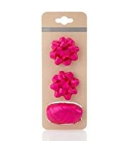 2 Fushia Bows & Ribbon Accessories Pack