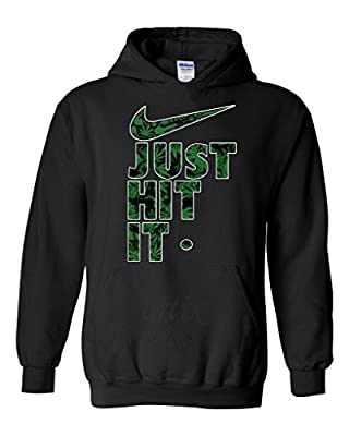 Artix Just Hit It Weed Pattern Unisex Hoodie Sweatshirts