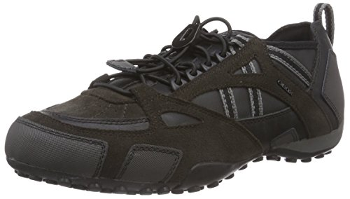 Geox UOMO SNAKE C, Low-Top Sneaker uomo, Nero (Schwarz (C6524MUD/BLACK)), 42