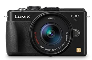 Panasonic Lumix DMC-GX1K 16 MP Micro 4/3 Compact System Camera with 3-Inch LCD Touch Screen and 14-42mm Zoom Lens (Black)