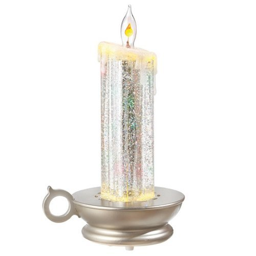 Silver Candle Shimmer Light