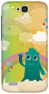 The Racoon Grip In the Clouds hard plastic printed back case/cover for Huawei Honor Holly