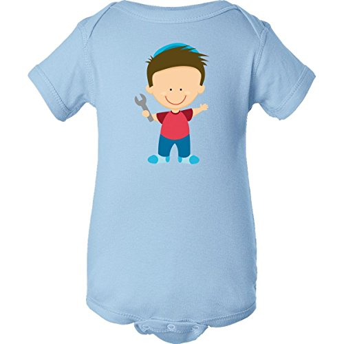 Inktastic Plumber Fix It Man Infant Creepers 12 Months Baby Blue