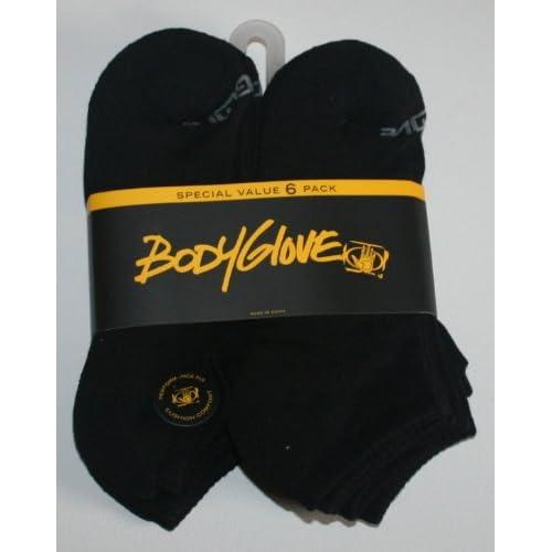 Amazon.com: Body Glove Men's Performance Fit No Show Socks 6 Pair