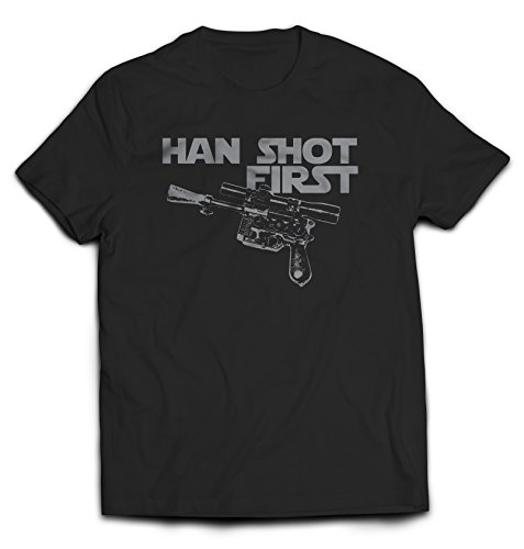 Shirts Are Cool Han Shot First T-Shirt Large Black